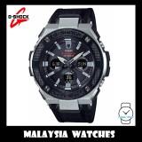 (OFFICIAL WARRANTY) Casio G-SHOCK G-STEEL GST-S330AC-1A Solar Analog-Digital Men's Black Cloth Tough Leather Band Watch