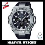 (OFFICIAL WARRANTY) Casio G-SHOCK G-STEEL GST-S130C-1A Solar Analog-Digital Men's Black Cloth Tough Leather Band Watch