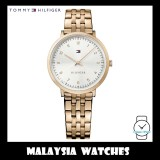 (100% Original) Tommy Hilfiger Women's 1781760 Rose Gold-Tone Stainless Steel Watch
