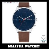 (100% Original) Tommy Hilfiger Men's 1791487 Chase Brown Leather Watch (2 Years International Warranty)