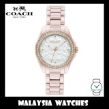 (100% ORIGINAL) Coach Ladies' 14503256 Modern Sport Silver Dial Blush Pink Ceramic Watch