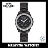 (100% ORIGINAL) Coach Ladies' 14503255 Modern Sport Black Dial Black Ceramic Watch
