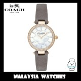(100% ORIGINAL) Coach Ladies' 14503104 Park Collection White Mother of Pearl Dial Grey Leather Strap Watch