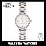 (100% ORIGINAL) Coach Ladies' 14503101 Park Collection White Dial Two-Tone Stainless Steel Watch