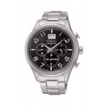 Seiko Chronograph 100M Gents Stainless Steel Watch SPC153P1 (Black & Silver)