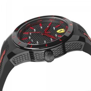 (100% Original) Scuderia Ferrari Men's 0830245 Redrev Watch (Black & Red)