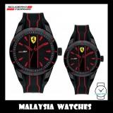 (100% Original) Scuderia Ferrari Men's 'Redrev Gift Set' 0870021 Quartz Silicone Watch (Black & Red)