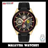 (100% Original) Scuderia Ferrari Men's 0830520 Aero Watch (Black & Gold)