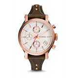 Fossil ES3616 Original Chronograph Leather Female Watch (Raisin)