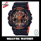 (OFFICIAL WARRANTY) Casio G-SHOCK GA-100BR-1A SPECIAL COLOR MODEL Bright Orange Analog-Digital Men's Resin Watch