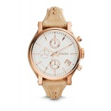 Fossil ES3748 Original Chronograph Leather Female Watch (Sand)