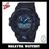 (OFFICIAL WARRANTY) Casio G-SHOCK GA-710B-1A2 SPECIAL COLOR MODEL Black & Blue Analog-Digital Men's Resin Watch