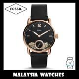 (OFFICIAL WARRANTY) Fossil Men's ME1168 The Commuter Twist Black Leather Watch