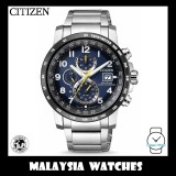 (100% Original) CITIZEN AT8124-91L Gents Eco-Drive Global Radio Controlled Chronograph Perpetual Sapphire Glass Solar Watch