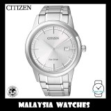 (100% Original) Citizen Gents AW1231-58A Eco-Drive Silver Dial Stainless Steel Solar Watch