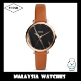 (OFFICIAL WARRANTY) Fossil Women ES4378 Jacqueline Three-Hand Luggage Leather Watch