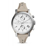 Fossil ES3811 Original Chronograph Leather Female Watch (Beige)