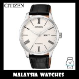 (100% Original) Citizen Gents NH8350-08A Mechanical White Dial Black Leather Automatic Watch