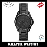 (OFFICIAL WARRANTY) Fossil Women's ES4519 Riley Multifunction Black Stainless Steel Watch