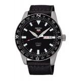Seiko 5 Sports Men's Black Nylon Strap Automatic Watch SRP667K1 (Black)