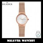 (100% Original) Skagen Ladies SKW2665 Freja Rose Gold-Tone Steel-Mesh Watch
