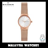 (100% Original) Skagen Ladies SKW2665 Freja Rose Gold-Tone Steel-Mesh Watch
