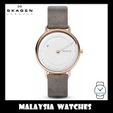 (100% Original) Skagen Ladies SKW2739 Horisont Special Edition Genuine Diamond Grey Leather Watch