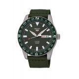 Seiko 5 Sports Men's Military Green Nylon Strap Automatic Watch SRP663K1 (Military Green)