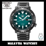 Seiko 5 Sports Bottle Cap Automatic SRPC65K1 Gents Black Stainless Steel Watch