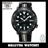 Seiko 5 Sports Bottle Cap Automatic SRPC67K1 Gents Black & White Nylon Strap Watch