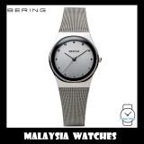 (100% Original) BERING Ladies 12927-000 Classic Polished Silver Sapphire Mesh Bracelet Watch