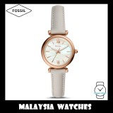 (OFFICIAL WARRANTY) Fossil Women ES4529 Carlie Mini Three-Hand Mineral Grey Leather Watch