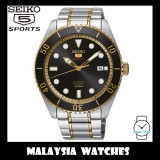 Seiko 5 Sports Gents SRPB94K1 Automatic Black Sunray Dial Two-Tone Stainless Steel Watch