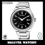 (100% Original) Citizen Gents AW1370-51F Eco-Drive Black Dial Stainless Steel Solar Watch