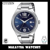 (100% Original) Citizen Gents AW1370-51M Eco-Drive Blue Dial Stainless Steel Solar Watch