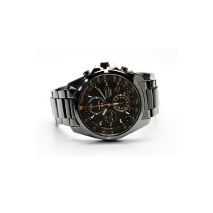 Seiko Men's Gents Chronograph Black Stainless Steel Strap Watch SNDD65P1 (Black)