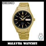 Seiko 5 SNK874K1 Automatic See-Through Back Case Black Dial 50m Gold-Tone Stainless Steel Watch