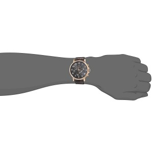 (100% Original) Tommy Hilfiger Men's 1710379 Daniel Multifunction Black Dial Brown Leather Watch