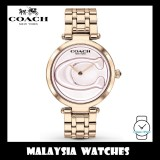 (100% ORIGINAL) Coach Ladies' 14503234 Park Signature C Carnation Gold Stainless Steel Watch