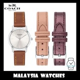 (100% ORIGINAL) Coach Ladies' 14503219 Grand Collection Silver Dial Leather Strap Watch (Free 2 Genuine Straps)