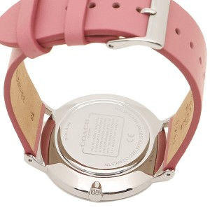 (100% ORIGINAL) Coach Ladies' 14503258 Perry Collection Silver Dial Pink Leather Strap Watch