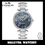 (100% ORIGINAL) Coach Ladies' 14503221 Park Collection Silver Signature C Stainless Steel Watch TWO (2) Years International Warranty