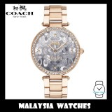 (100% ORIGINAL) Coach Ladies' 14503223 Park Collection Signature C Rose Gold Stainless Steel Watch TWO (2) Years International Warranty
