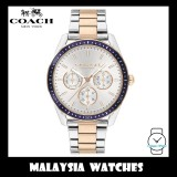 (100% ORIGINAL) Coach Ladies' 14503269 Preston Silver White Dial Two-Tone Stainless Steel Watch TWO (2) Years International Warranty