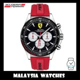 (100% Original) Scuderia Ferrari Men's 0830596 Pilota Chronometer Red Silicone Watch TWO (2) Years International Warranty