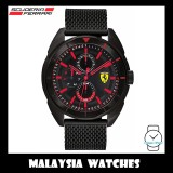 (100% Original) Scuderia Ferrari Men's 0830636 Forza Black Stainless Steel Mesh Watch