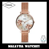 (OFFICIAL WARRANTY) Fossil Women's ES4534 Jacqueline Rose Gold-Tone Stainless Steel Watch