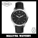 (OFFICIAL WARRANTY) Fossil Men's FS5398 The Minimalist Slim Three-Hand Leather Watch (Black)