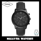 (OFFICIAL WARRANTY) Fossil Men's FS5503 Neutra Chronograph Black Leather Watch (Black)