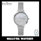 (100% Original) Skagen Ladies SKW2775 Anita Mother of Pearl Silver-Tone Steel Mesh Watch (Silver)